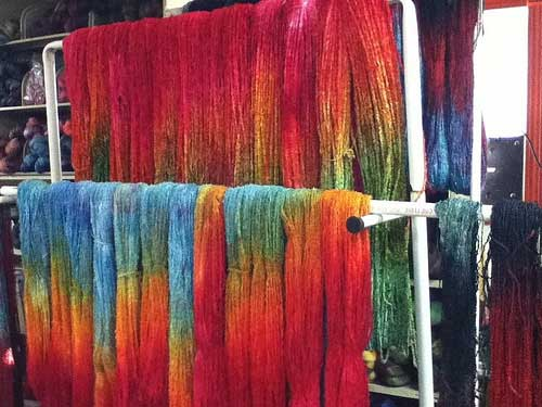 New hand-dyed yarn