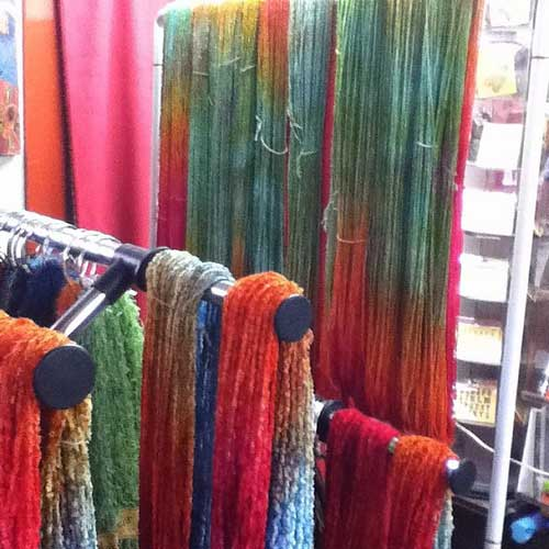 Trying to dry my hand-dyed yarn