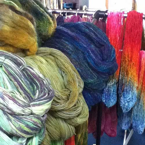 Drying & winding yarn