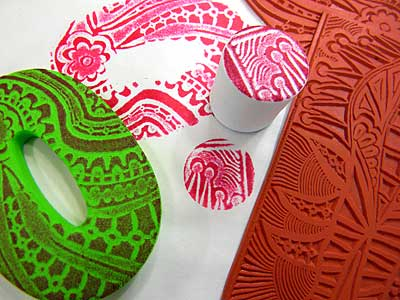 Moldable Foam Stamps Tutorial Traci Bunkers Bonkers