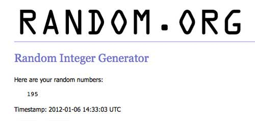 random.org winning number