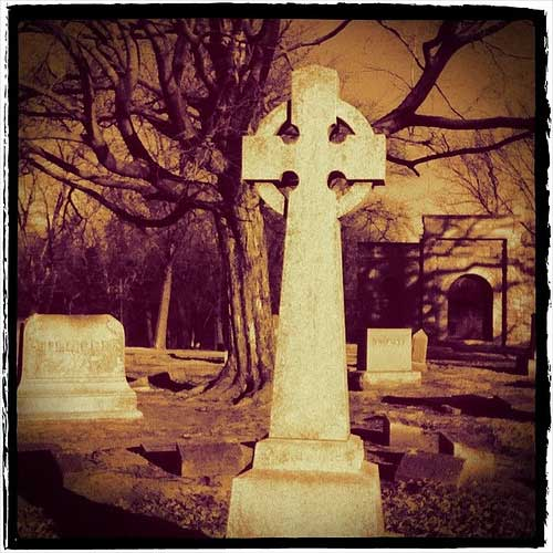 cemetery celtic cross