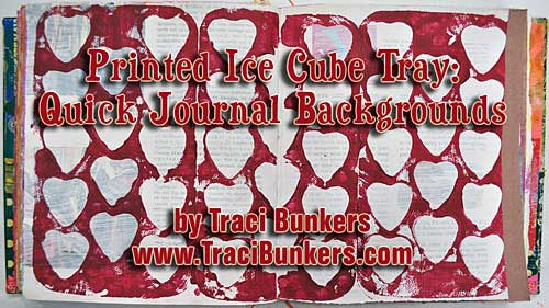 Printed Heart Ice Cube Tray: Quick Printed Backgrounds, Part 1