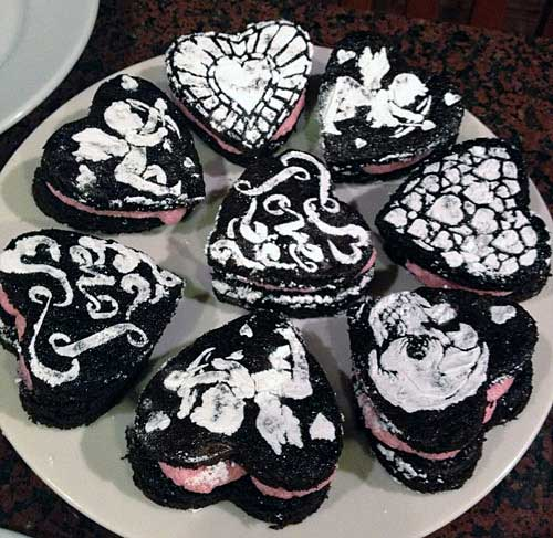 Judy Coates Perez's Chocolate Heart Cakes