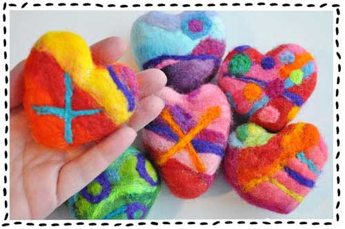 Kelli Nina Perkins Felted Heart Soap