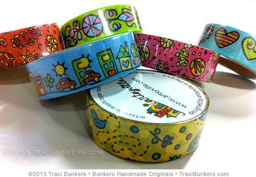 TraciBunkers.com - artsyville washi tape