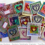 TraciBunkers.com - Heaps of Layered Handprinted Cards online workshop