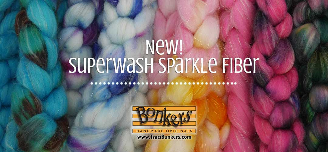 TraciBunkers.com - Hand-dyed Superwash Sparkle