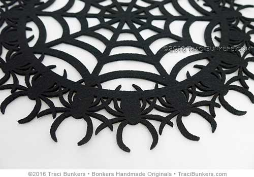 TraciBunkers.com - spider web die-cut felt