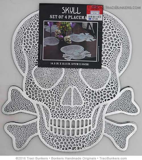 TraciBunkers.com - skull placemats