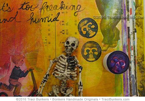 TraciBunkers.com - skeleton foam stamp