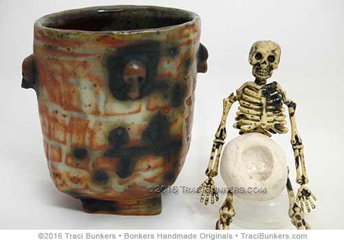 TraciBunkers.com - skeleton sprig mold & mug