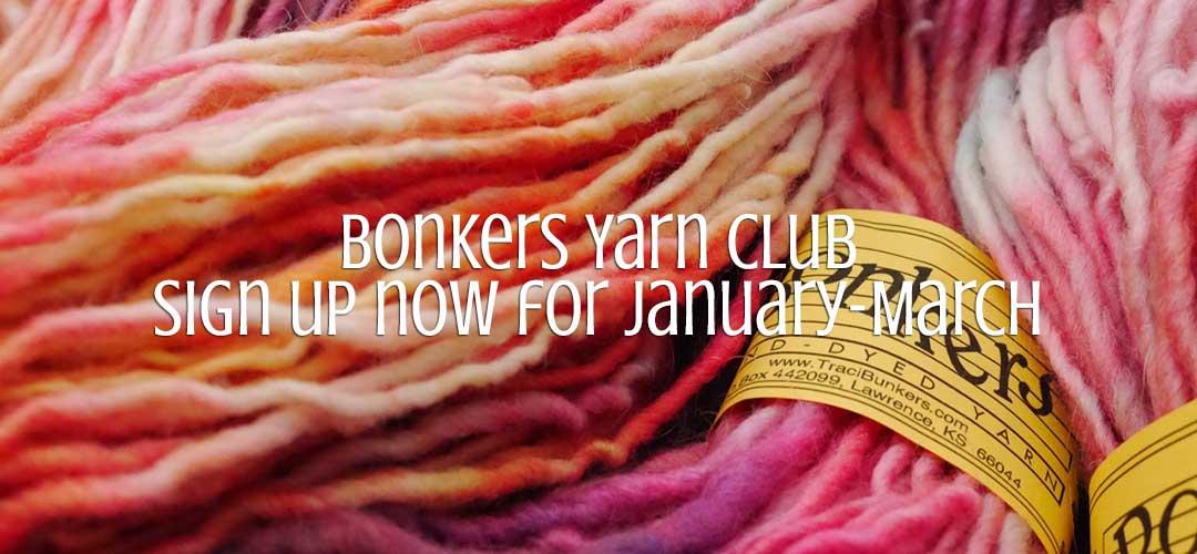 TraciBunkers.com - Bonkers Yarn Club: Jan-March 2017