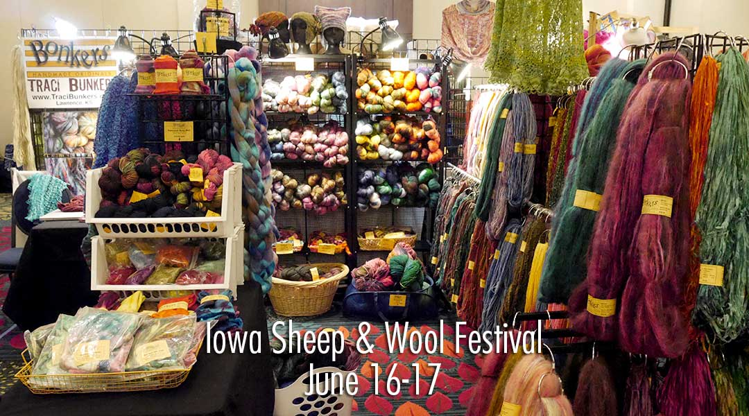 TraciBunkers.com - vending at Iowa Sheep & Wool Festival