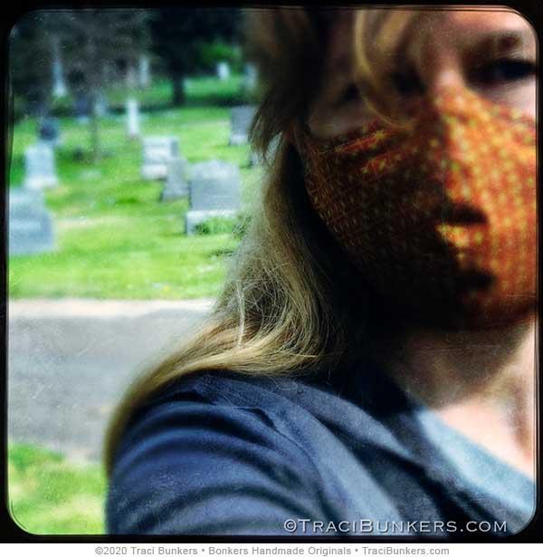 tracibunkers.com - masked self-portrait